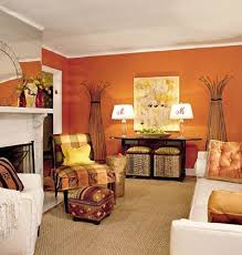 Orange Living Room Decor Burnt Orange Living Room Lightandwiregallery