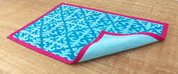 Damask Print Rug Cotton Rug Shyrdak Turquoise 30