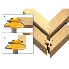 joinery miter glue joint large lock miter router bit 45