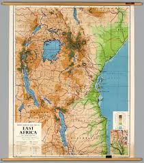 Geographical Map Of Africa by East Africa Physical Political David Rumsey Historical Map