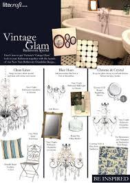 be inspired vintage glam u0027 bathroom special litecraft