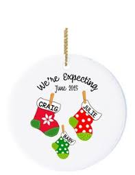 personalized ornaments for expectant parents and baby makes