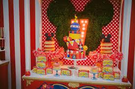 Circus Birthday Decorations Kara U0027s Party Ideas Mickey Mouse Circus Birthday Party