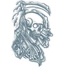 skull reaper tattooforaweek temporary tattoos largest temporary