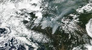 Canada Wildfire Satellite by Nasa Releases Images Of The Bc Wildfires From Space Photos