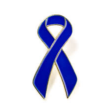 blue support ribbon blue lapel pin cure paralysis ribbon pin cure paralysis lapel