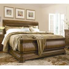 King Sleigh Bed New Lou King Sleigh Bed In Cognac Nebraska Furniture Mart