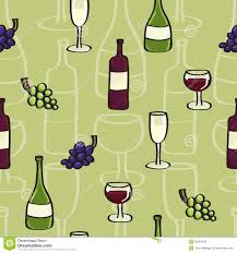cartoon wine bottle wine seamless background tile in cartoon style stock vector