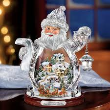 Thomas Kinkade Christmas Tree For Sale by The Thomas Kinkade Crystal Santa Claus Hammacher Schlemmer