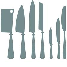 different kitchen cutlery silhouette vector 01 vector