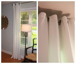 fresh and fancy diy white grommet drapes