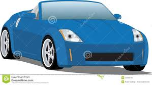 nissan sports car nissan 350z sports car convertible stock vector image 11129146