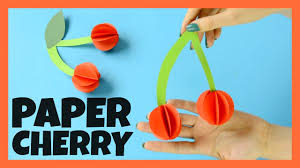 paper cherry craft for kids fun paper craft idea for kids youtube