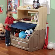 lift u0026 hide bookcase storage chest tan u0026 blue kids toy box step2