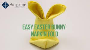 easter napkins easy easter bunny napkin fold