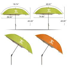 Windproof Patio Umbrella Paul S Outside Garden Furniture Sunshade Umbrellas Layer