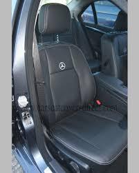 mercedes c class seat covers mercedes c class w204 black leatherette seat covers car seat
