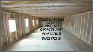 Derksen Portable Finished Cabins At Enterprise Center Youtube Insulating Our Graceland Portable Building Youtube