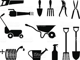 gardening tools black and white stock vector art 116862274 istock