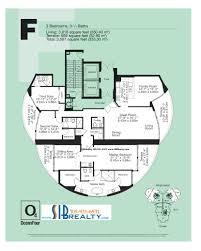 unit 05 ocean 4 sunny isles beach floor plan above 24th floor