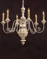 Italian Wood Chandelier Carved Wood Chandelier With Wrought Iron Arms And Painted