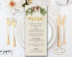 Festive Dinner Party Menu - christmas menu etsy