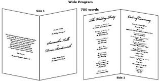 printing wedding programs enter your wedding program wording