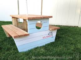 Plans For Picnic Tables by How To Build A Nautical Picnic Table For Bigger Kids A Houseful
