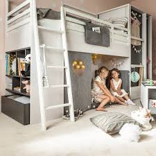 Bunk Cabin Beds Nest Cabin Bed In Larch Effect Graphite Nest Bed Cuckooland