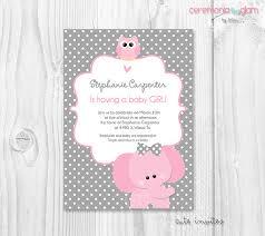 baby girl invitations elephant baby girl shower invitations elephant ba shower girl