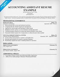 accountant resume exles resume for accountant musiccityspiritsandcocktail