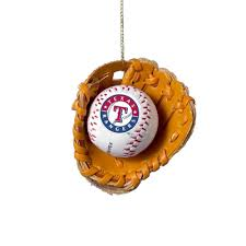rangers and glove ornament
