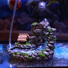aquarium resin waterwheel decoration moving by air not