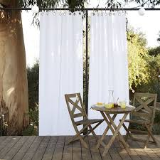 Outdoor Privacy Curtains Solid Outdoor Curtain White West Elm