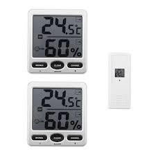 thermometre de chambre 2 pcs intérieur chambre lcd électronique température hygromètre