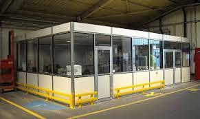 bureau atelier cloison d atelier aménagement de bureau industriel en alsace