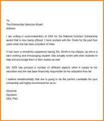 11 college scholarship recommendation letter receipts template