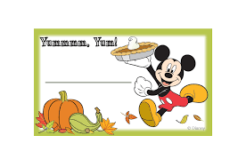mickey and friends thanksgiving food labels disney family