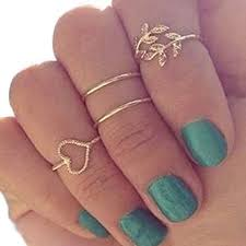 midi rings set 4pcs set gold plated plain above knuckle