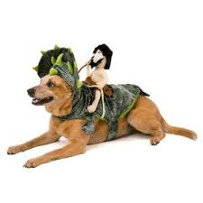 top paw halloween dino caveman rider costume l xl funny dog costumes