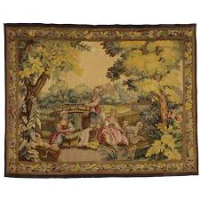 late 19th century antique tapestry with old world charm and french