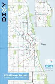 Map Program Chicago Bike Share Nears Launch As Program Announces Bike Stations