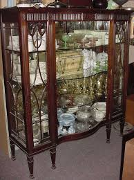 Pot Belly Stove With Glass Door by Antique China Cabinet With Curved Glass Door