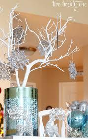 Blue Snowflakes Decorations Silver U0026 Blue Christmas Centerpiece Blue Centerpieces