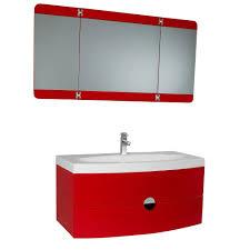 Vanity Folding Mirror Fresca Energia 36 In Vanity In Red With Acrylic Vanity Top In