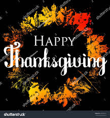 happy thanksgiving text greeting autumn leaves stock vector