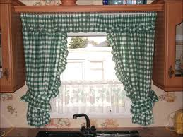 kitchen bathroom window curtains navy blue valance balloon