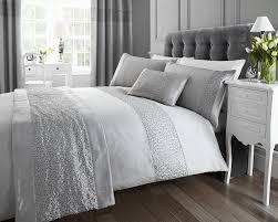 sparkle glitz duvet quilt cover faux silk sequin single bed