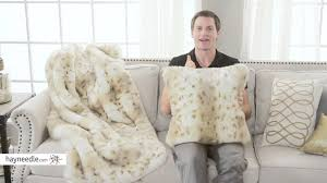 Faux Fur Throw Pillow Snow Leopard Faux Fur Throw Pillow Product Review Video Youtube