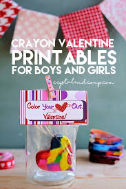 crayon valentines color your heart out